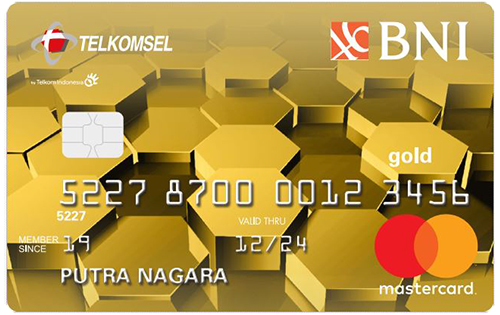 BNI Telkomsel Mastercard Gold