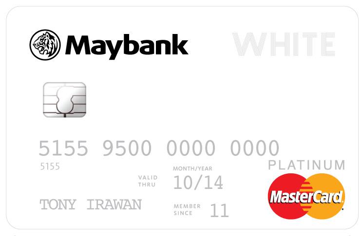 Maybank Whitecard Mastercard Platinum